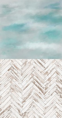 Gray turquoise in silver